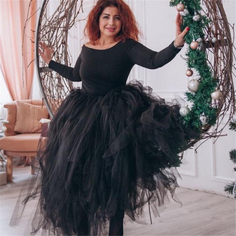 100cm Length Wedding DIY Skirt Tulle Overskirt Sexy Pleated Fashion Handmade Woman Tutu Female Long Skirt Lolita Saia Longa 1