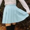 Japanese high waist pleated skirts JK student Girls solid pleated skirt Water color Japanese high waist pleated skirts JK student Girls solid pleated skirt Cute Cosplay school uniform skirt