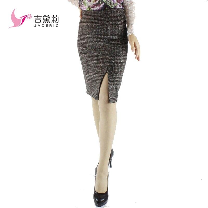 Jaderic spring autumn 18 new women skirt high waist work slim pencil skirt open fork sexy office lady skirts female S-4XL