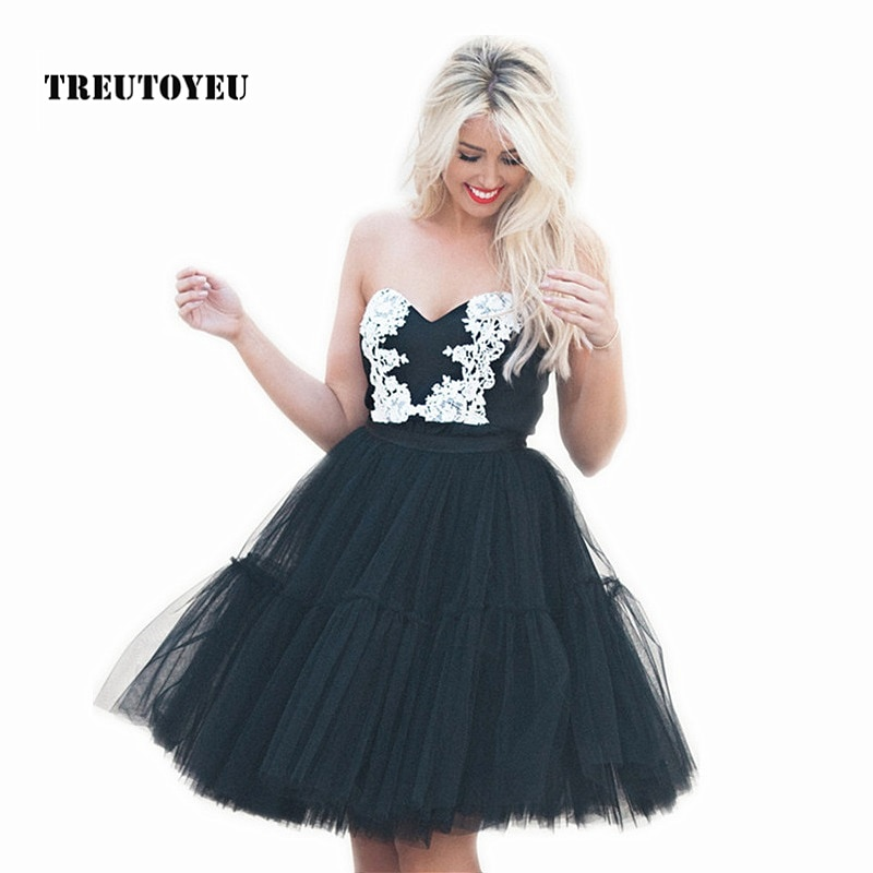 5 Layers 60cm Tutu Tulle Skirt Vintage Midi Pleated Skirts Womens Lolita Petticoat Bridesmaid Wedding faldas Mujer saias jupe 1