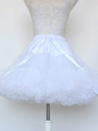 Fashion 5 Layers Midi Tulle Skirt Vintage Tutu Skirts Womens Lolita Petticoat faldas de tull Mujer Saias Jupe