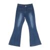 High-Rise Wide Leg Flared Jeans Retro Bell Bottom Jeans Denim Women Fashion High-Rise Wide Leg Flared Jeans Retro Bell Bottom Jeans Denim Ladies Zipper Pocket Trousers
