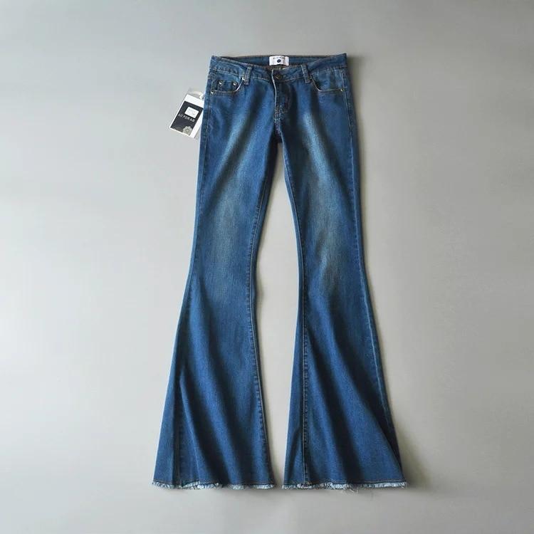 2019 New Fashion Women Flare Jeans Stretch High Waist Lifting Buttocks Wide Leg Denim Sexy Pants Spring Autumn 3