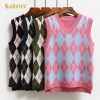 Fashion Casual Tank Tops Pullover Elasticity Sweater Spring Autumn Women Sleeveless V-Neck Knitted Vest kz373