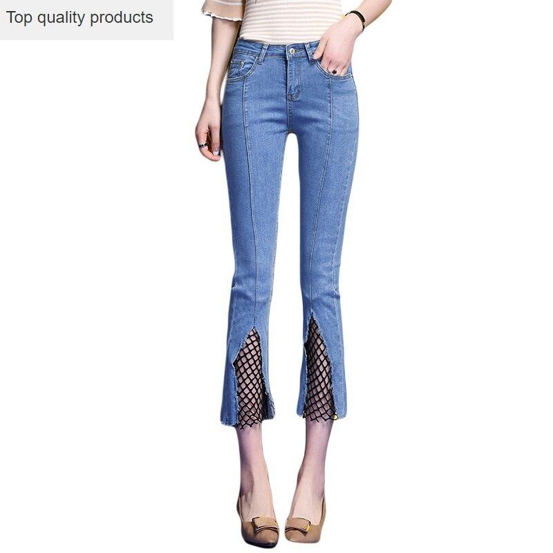 2020 High Waist Jeans Woman Ankle-length Denim Pants Plus Size Women Flare Jeans Blue Black Vintage Pants Baqueros Mujer AC041 1