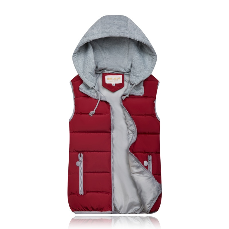 2019 Winter Coat Women Hooded Warm Vest Plus Size Candy Color Cotton Jacket Female Women Wadded Feminina chalecos 1