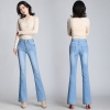 Flare Jeans Stretch High Waist Button Casual Spring Stretchy Denim Pants  Women Vintage Jeans For Women Flare Jeans Stretch High Waist Button Casual Spring Stretchy Denim Pants