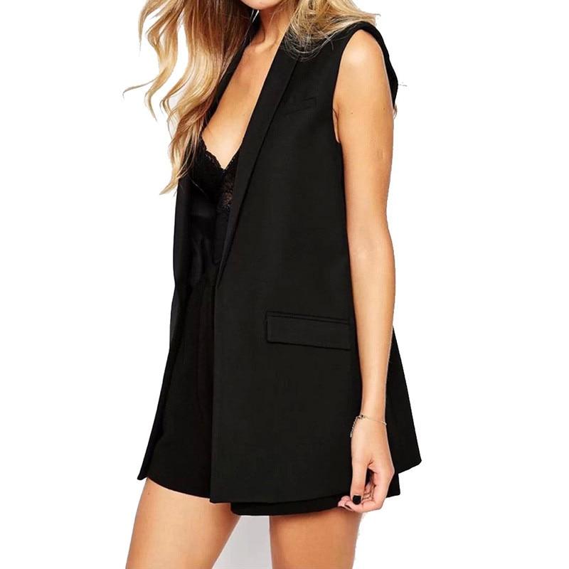 Women vest Fashion Wardrobe waistcoat Solid Slim vest 2019 Decoration Vests Female Sleeveless Waistcoat office lady coat Tops 2