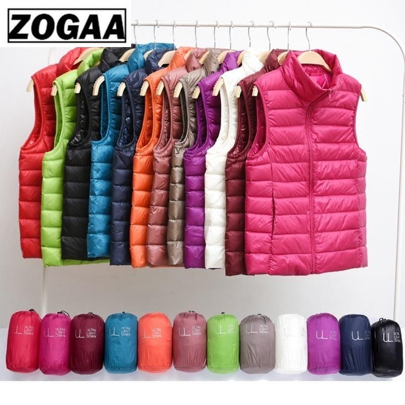 Zogaa Brand Woman Winter Vest Cotton Sleeveless Womens Jackets 12 Colors Ultralight Down Jacket Puffer Vest Outwear Warm Coat 1