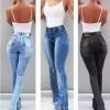 Tight Lady Mid Waist Lady Jeans Women Wide Leg Jeans Plus Size XXXL Sexy Slim Waist Skinny Flare Pants Jeans Tight Lady Mid Waist Lady Jeans Women Wide Leg Jeans Plus Size XXXL