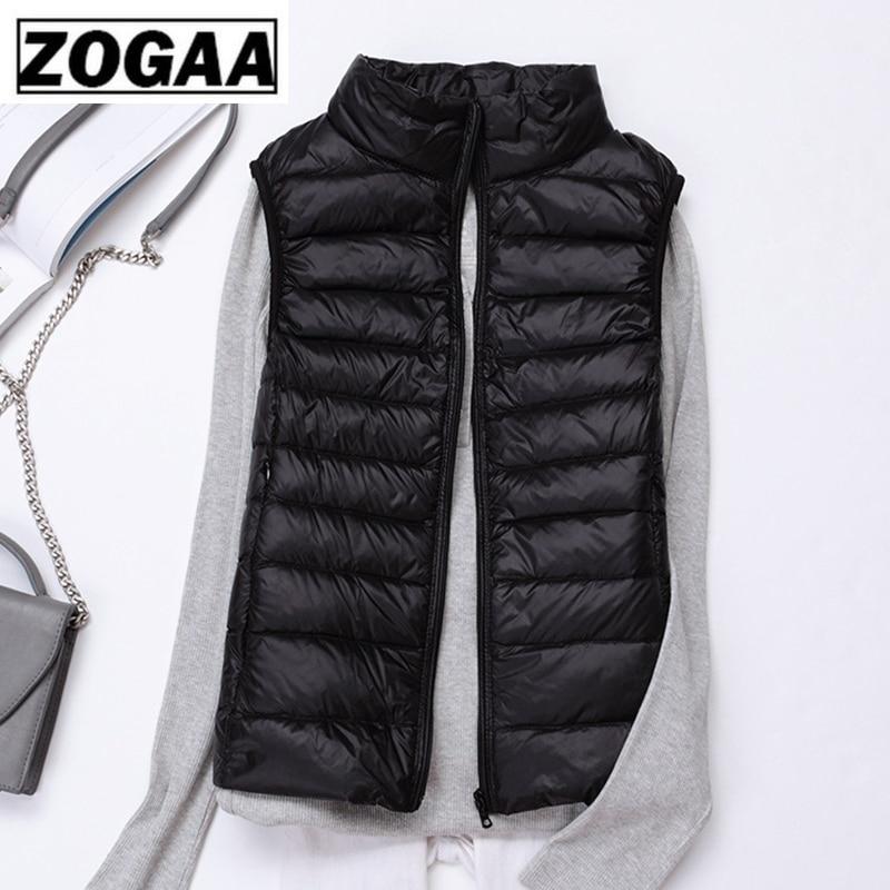 Zogaa Brand Woman Winter Vest Cotton Sleeveless Womens Jackets 12 Colors Ultralight Down Jacket Puffer Vest Outwear Warm Coat 2