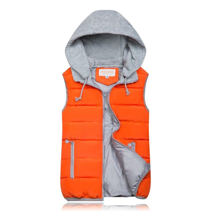 2019 Winter Coat Women Hooded Warm Vest Plus Size Candy Color Cotton Jacket Female Women Wadded Feminina chalecos