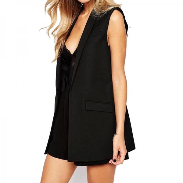 Women vest Fashion Wardrobe waistcoat Solid Slim vest 2019 Decoration Vests Female Sleeveless Waistcoat office lady coat Tops