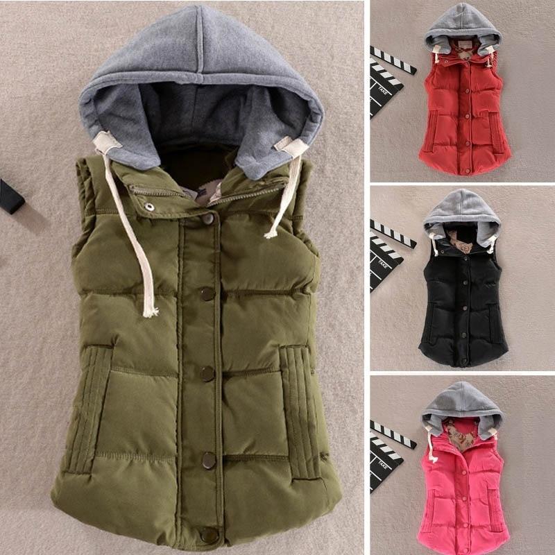 Zogaa Spring Autumn Women Vest Jacket Ladies Winter Warm Cotton Sleeveless Waistcoat Jacket Casual Slim Fit Hooded Coat Women 1