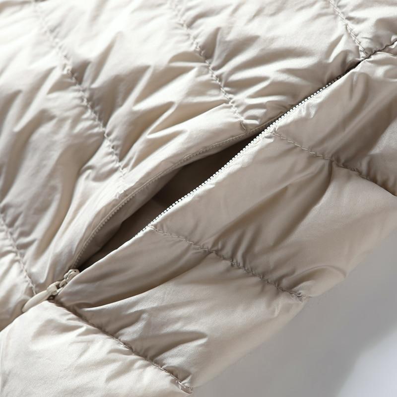 Women's Vest Duck Down Jacket Woman Hooded Spring Autumn Ultra Light Sleeveless Coat Plus Size Chalecos Para Mujer J3831 3