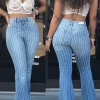 Flare Jeans Women ripped wide leg jeans Denim Trousers Vintage bell bottom jeans High Waist Pants ladies push up calca jeans