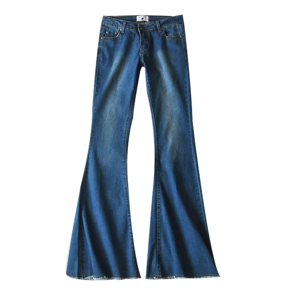 2019 New Fashion Women Flare Jeans Stretch High Waist Lifting Buttocks Wide Leg Denim Sexy Pants Spring Autumn 1