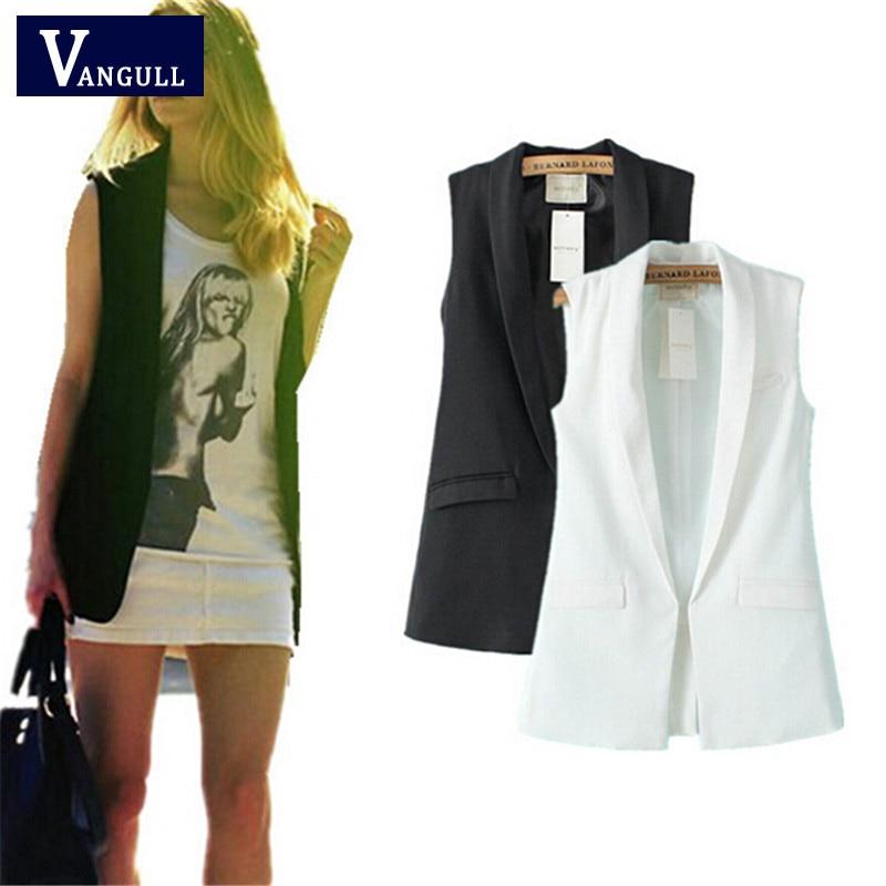 Women vest Fashion Wardrobe waistcoat Solid Slim vest 2019 Decoration Vests Female Sleeveless Waistcoat office lady coat Tops 1