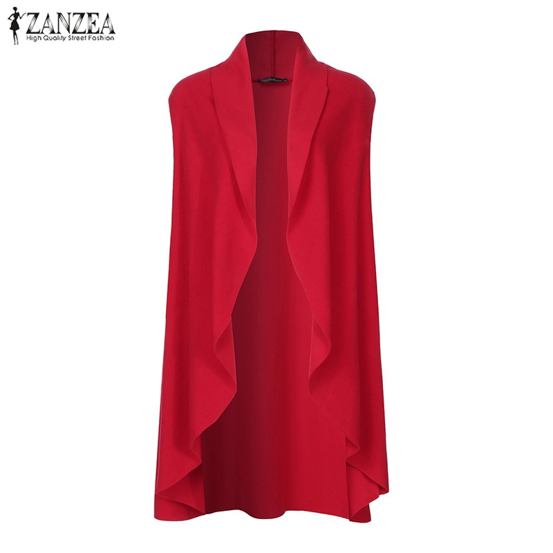 ZANZEA Women Vests Casual Loose Sleeveless Cardigan 2019 Fashion Chaqueta Mujer Plus Size Solid Coats Jackets Outwear Overcoats 2