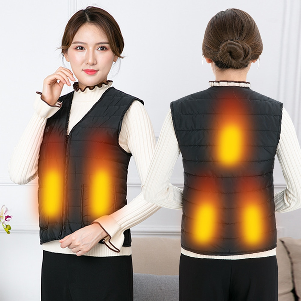 Men Women Outdoor USB Infrared Heating Vest Winter Flexible Electric Thermal Warm Jacket Clothing for Hiking Riding Sports 1