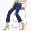Blue Summer Thin Flare Pants Cropped High Waist Stretch Denim Pants FERZIGE Womens Jeans Solid Black Blue Summer Thin Flare Pants Cropped High Waist Stretch Denim Pants for Yong Girls