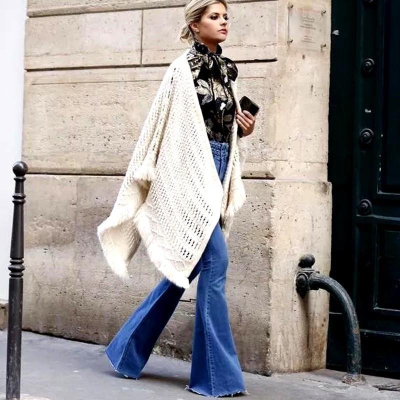 Rebicoo Women Flare Jeans Female Casual Slim Stretch Fashion Ladies Vintage Washed Skinny Long Denim Pants Spring Autumn 2