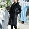 Winter Warm Waistcoats Female Long Vest Female Black Sleeveless PU Leather Jacket Velvet Women's Vests Outerwear Spring Coats