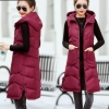 Brieuces Autumn winter vest women 2020 cotton-padded warm thicken long woman vest female hooded parka jacket waistcoat plus size