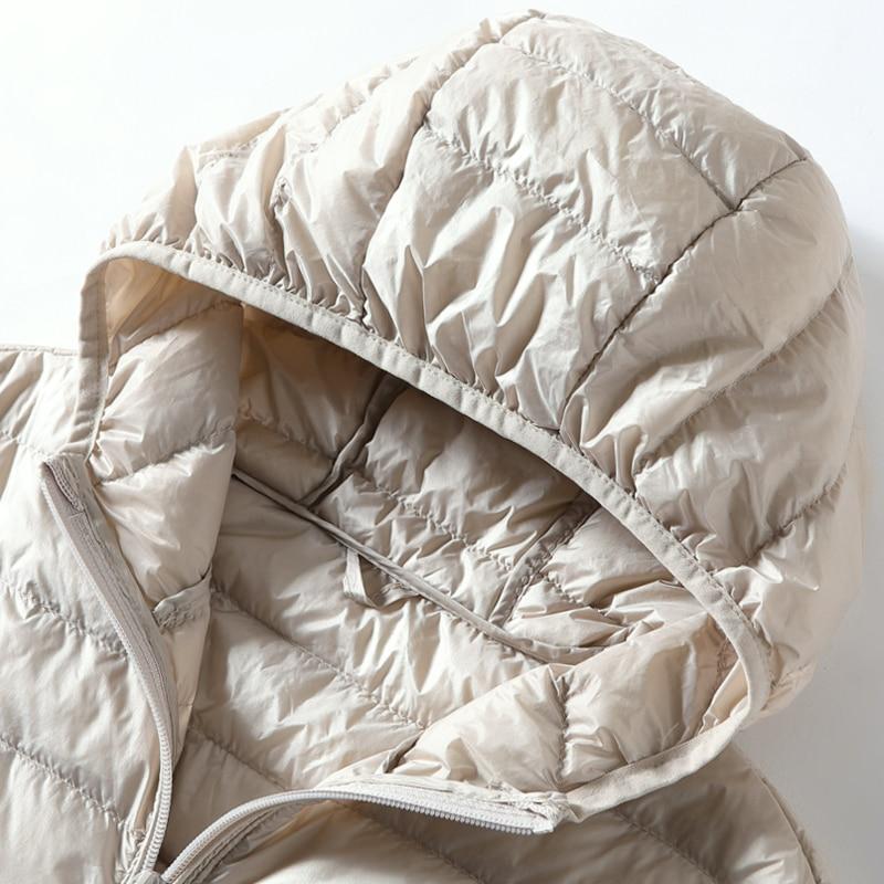 Women's Vest Duck Down Jacket Woman Hooded Spring Autumn Ultra Light Sleeveless Coat Plus Size Chalecos Para Mujer J3831 1