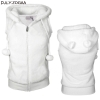 Women Winter Warm Vests Coat Soft Fleece Hooded Outwear Female Fashion Casual Thicken Vest Jacket Solid Women Fur Vest Coat