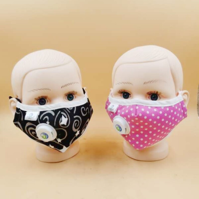 Children Mask With Breath Design Replaceable Filter Anti Dust Mouth Mask PM2.5 Respirator Kids Face Masks in stock DER 1