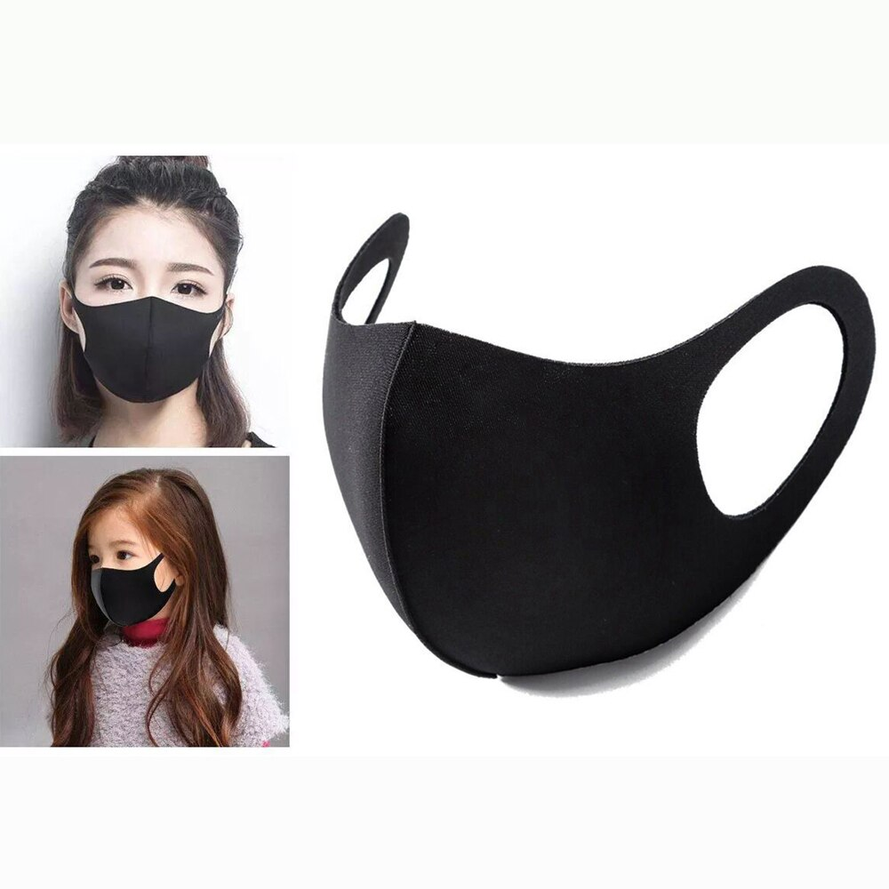 Cotton Face Masks Anti Pollution PM2.5 Anti-dust Masks Breathable Unisex for Children Kids Adults Mouth Cover Washable Reusable 1