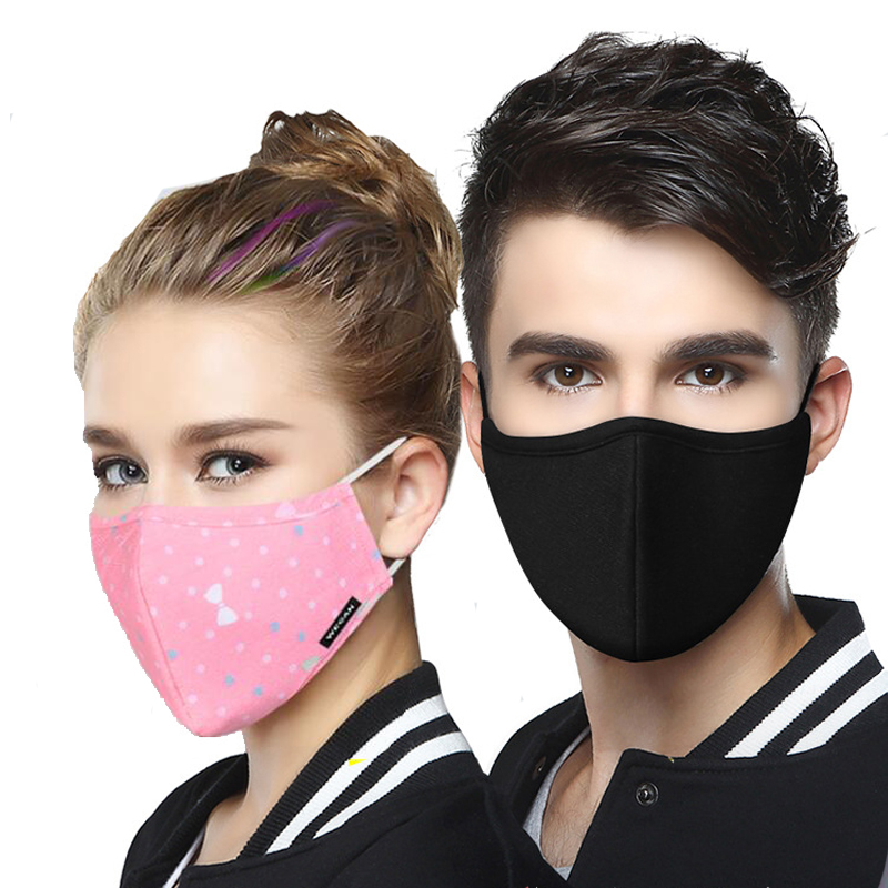 Dust Mask Breathable Unisex Cotton Face Mask Reusable Anti Pollution Face Shield Wind Proof Mouth Cover Activated carbon filter 1