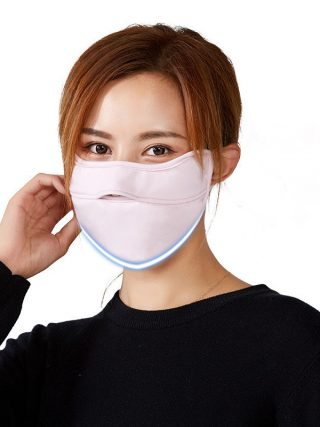 Unisex Reusable Face Mask Canbe Nose Exposed Design Anti Dust Smog Cold Proof Mouth Mask Breathable Washable Breathing Protector