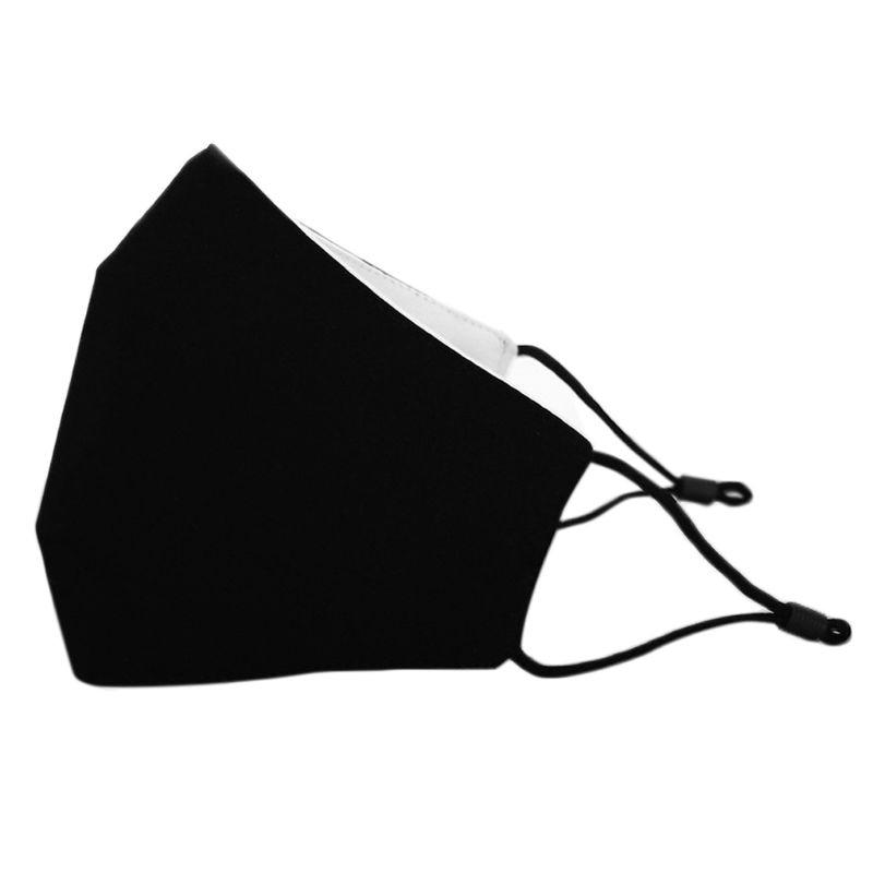 3Pcs/Set Adult Kids Black Cotton Face Mask Breathable Dustproof Adjustable Earloop Double Layer Washable 3D Mouth-Muffle 1