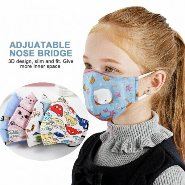 Children Mask With Breath Design Replaceable Filter Mouth Mask Kids Face Mask