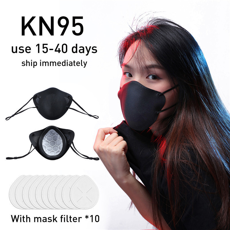KN95 Mask PM2.5 Mouth Mask Oral And Nasal Isolation Design N95 Anti-dust Masks Activated Carbon Dustproof Safety Face Mask 1