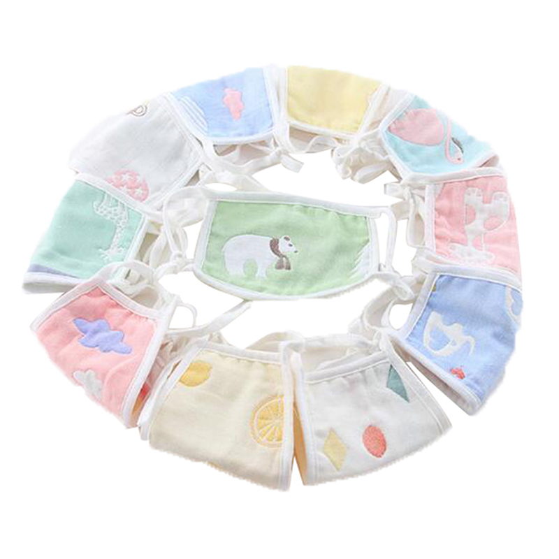 1pcs Cartoon Cute Design Mouth Face Mask For Kids Anti-Dust Non-disposable Fabric Masks With Respiration 1