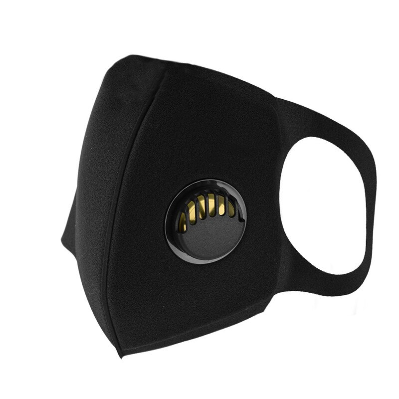 In Stock Reusable Mouth Mask Face Mask Washable Dust Proof Black Face Mask Breathable Super Soft Fashion Design Anti Dust Mask 3