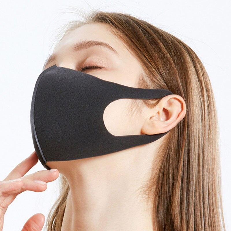 Unisex Face Mask Dust Mask Anti Air Pollution Dust Mask Unisex Mouth Mask,Washable and Reusable Black Cotton Face Mask 6Pcs Blac 2