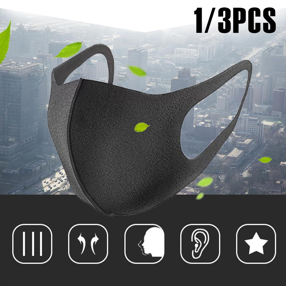 Cotton Face Mask breathable Stretchable Ear Loops Protection Dustproof Washable and Reusable Black Durable And Wear-resistant 1