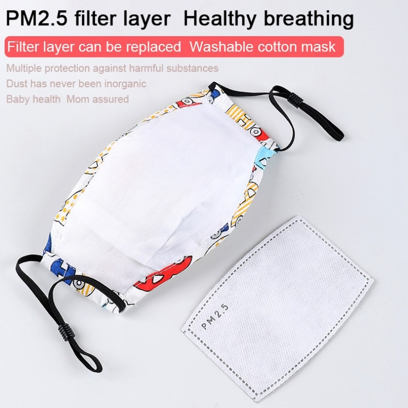 1PC Children Mask With Breath Design Replaceable Filter Anti Dust Mouth Mask PM2.5 Respirator Kids Face Mask 2