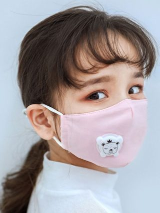 Anti PM2.5 Children Face Mask With Breathing Design Cotton 3-layer Outdoor Anti-dust Mask Kids Protective Mask