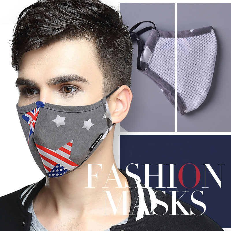 Dust Mask Breathable Unisex Cotton Face Mask Reusable Anti Pollution Face Shield Wind Proof Mouth Cover Activated carbon filter 3