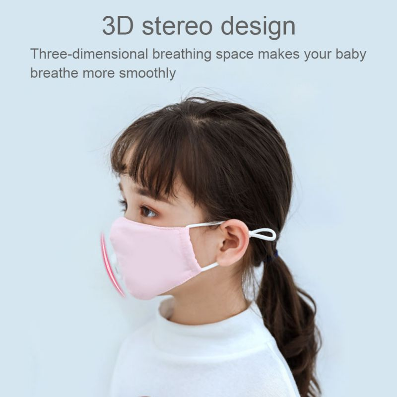 Anti PM2.5 Children Face Mask With Breathing Design Cotton 3-layer Outdoor Anti-dust Mask Kids Protective Mask 2