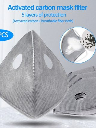 10pcs/bag Cycling Face Masks Filter MTB Road Equip Anti-Dust PM2.5 Replacement With Active Carbon Mouth Mask Filter Set Insert