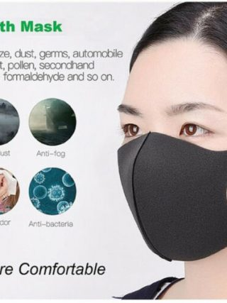 1pc/5pcs In Stock Reusable Mouth Mask , Washable Dust Proof Black Face Mask Breathable Super Soft Fashion Design