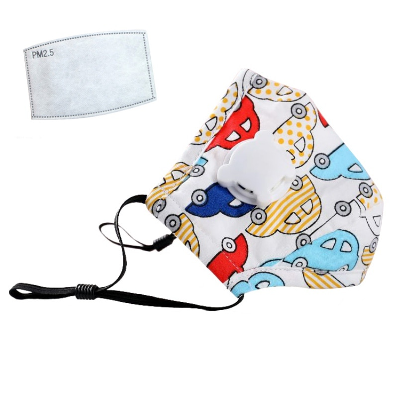 Children Mask With Breath Design Replaceable Filter Anti Dust Mouth Mask PM2.5 Respirator Kids Comfortable Health Care Face Mask 2