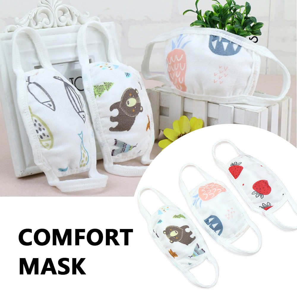 Cartoon Lovely Cotton Face Mask for Adlut Children Anti-fog Dust Windproof Warm Pollution Washable Unisex Breathable Mouth Masks 1
