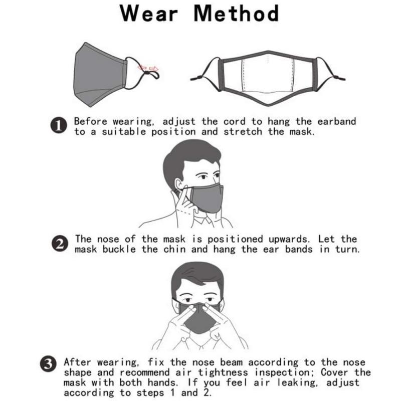 Children Dust Mask PM2.5 Print Breath Design Replaceable Filter Anti Dust Valve Filter Washable Mask Respirator Kids Face Mask 2